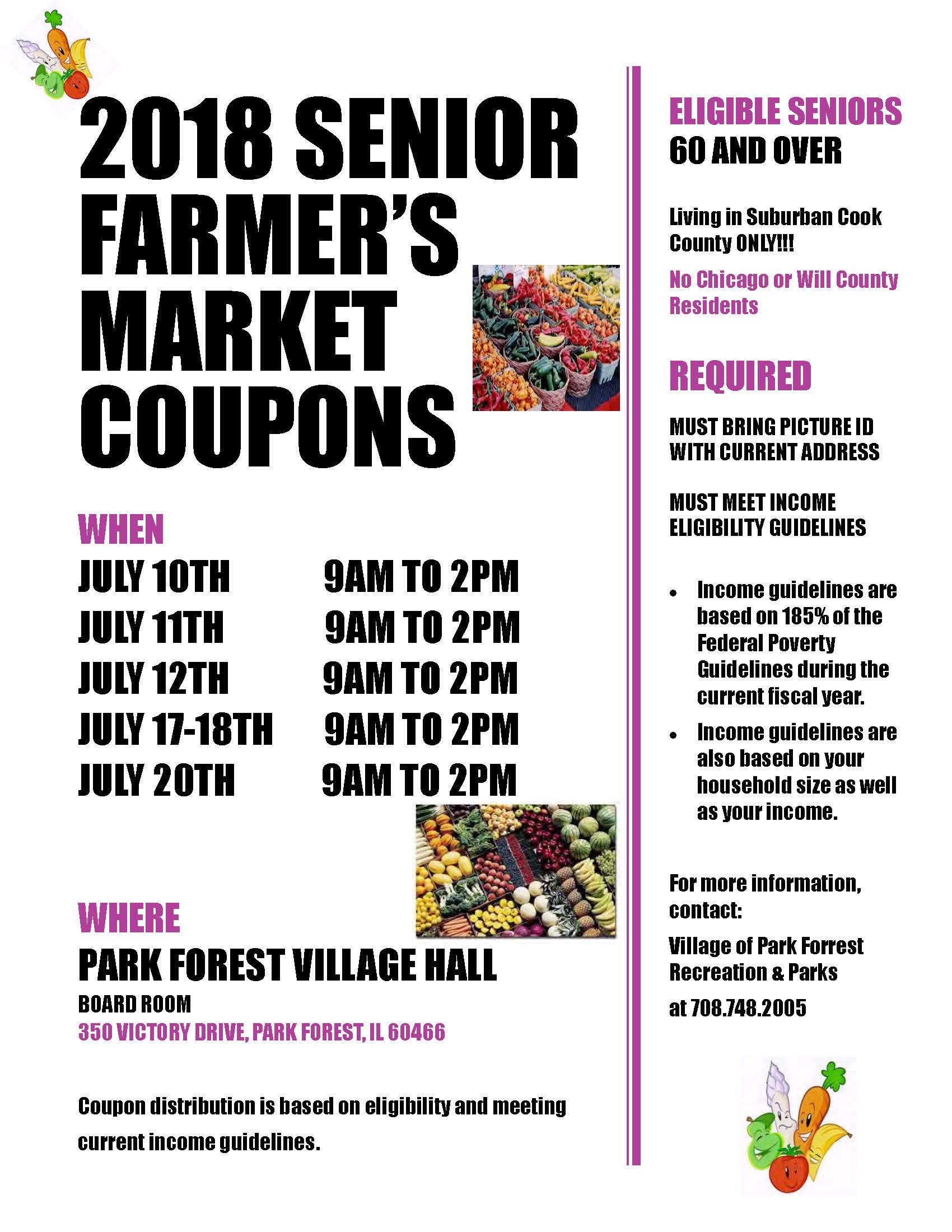 2018 Farmers Market Flyer