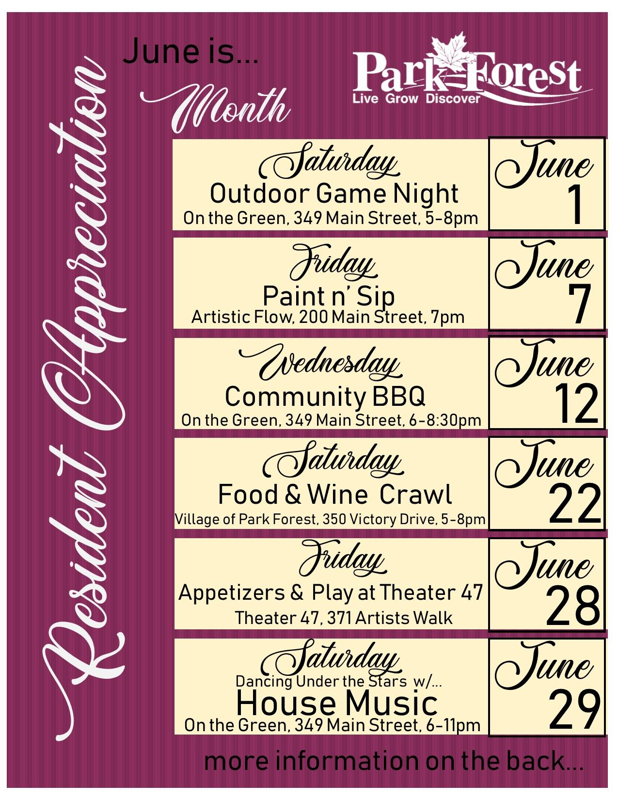 Resident Apprecation Flyer front