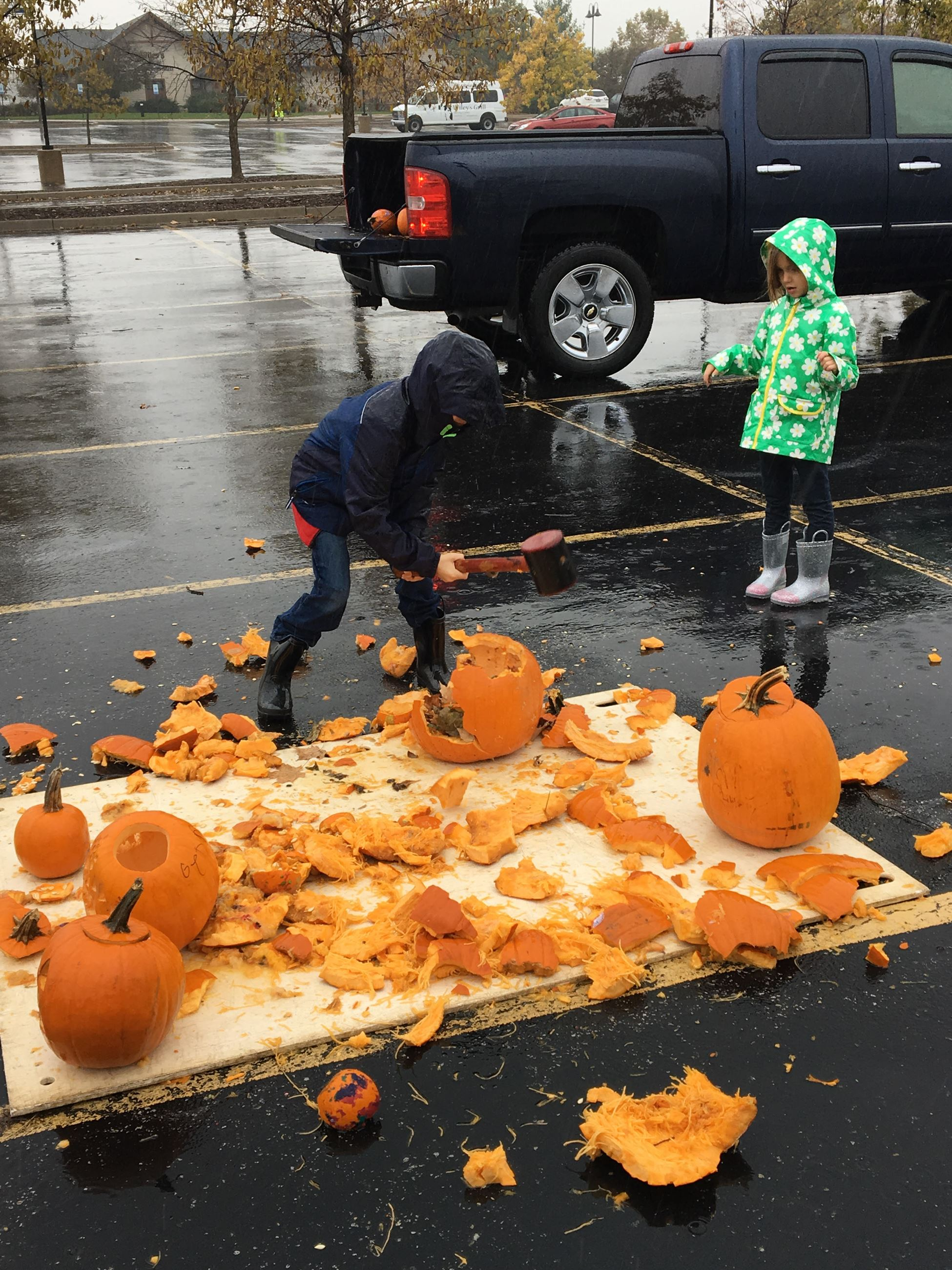 pumpkin smash photo