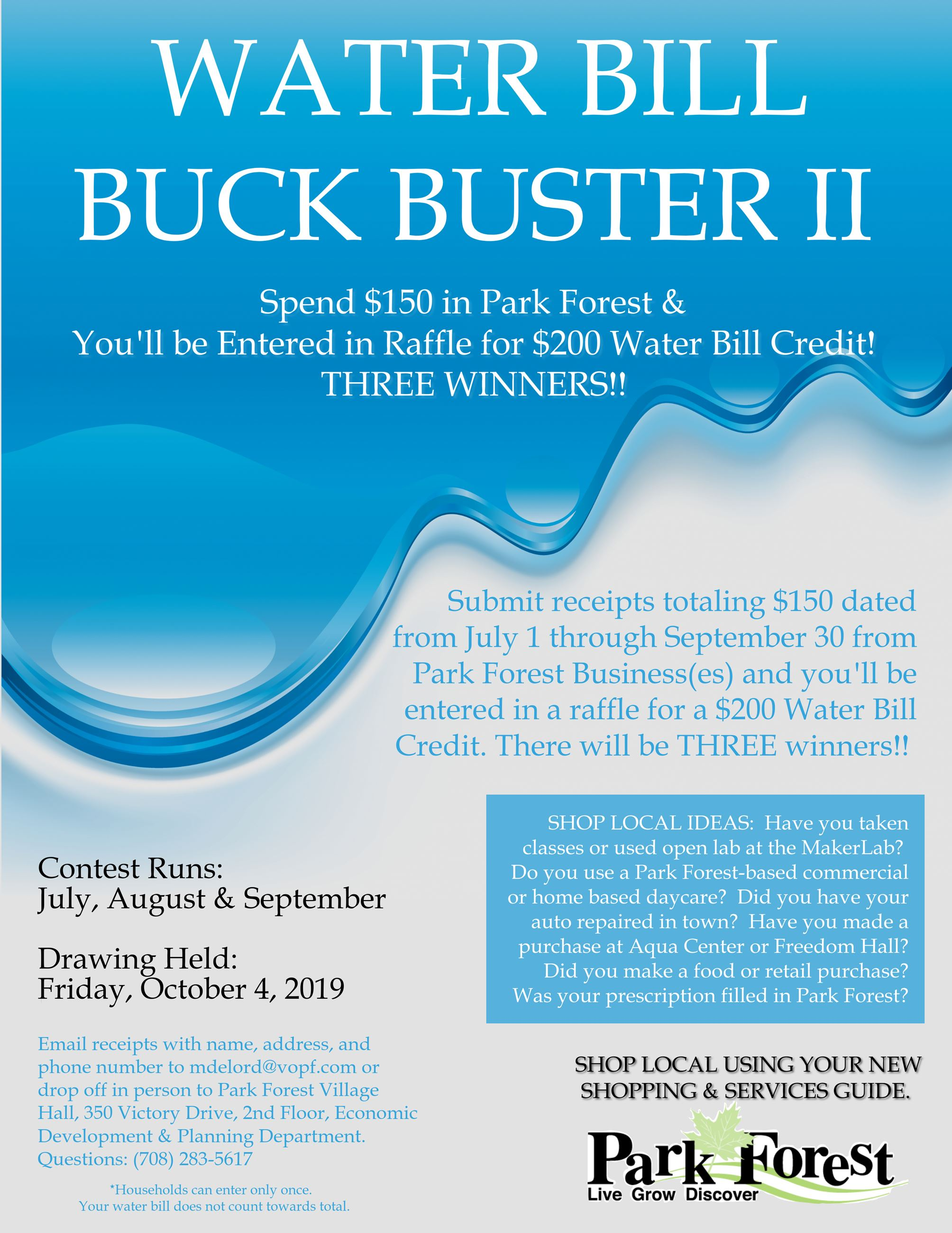 Water Bill Buck Buster II